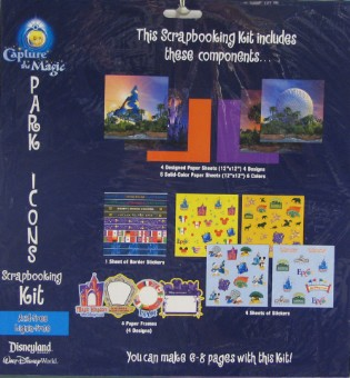 Disney World Scrapbooking Kit - Theme Park Icons