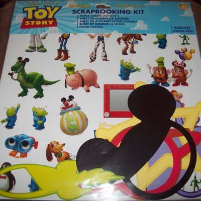 Disney Scrapbooking Sticker Kit 12 X 12 Toy Story Woody Buzz