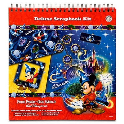 Disney World Deluxe Scrapbooking Kit Four Parks One World