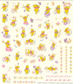 Disney Scrapbooking Stickers - Winnie the Pooh and Butterflies Pink