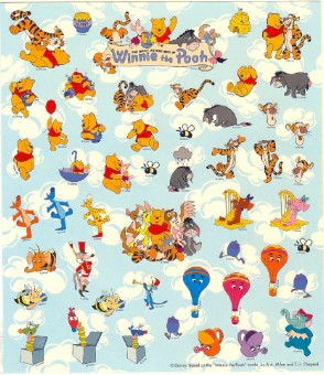 Disney Scrapbooking Stickers - Many Adventures of Winnie the Pooh