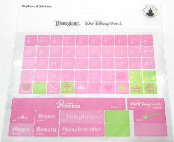 Disney Keyboard Stickers - Princess