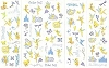 Disney Stickers 5 Strips - Tinker Bell