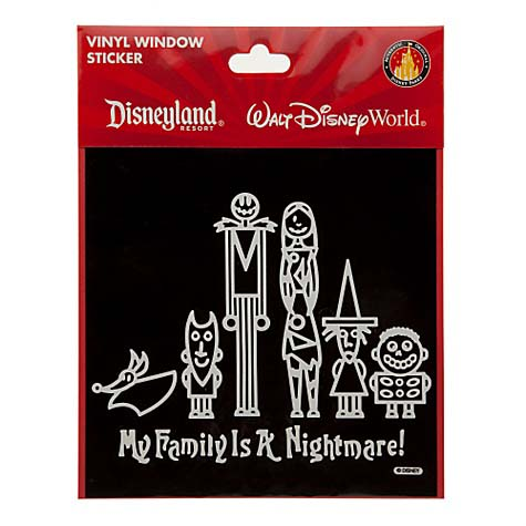 Disney window decal my family is a nightmare