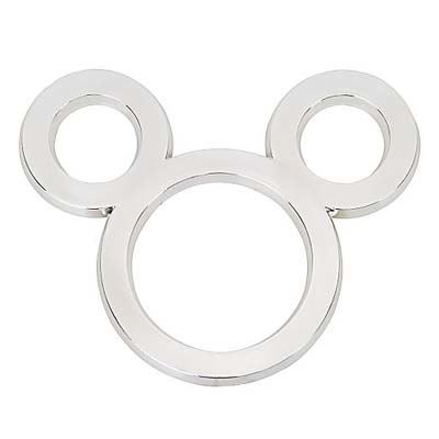 Disney Vehicle Emblem - Silver Mickey Mouse Ears