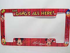 Disney License Plate Frame The Gangs All Here