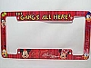Disney License Plate Frame & Decal SET - The Gangs All Here