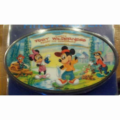 Car Trailer Hitch >> Disney Hitch Cover - Fort Wilderness - Mickey Storybook Logo