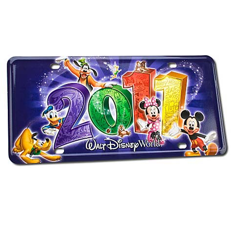 Disney License Plate - 2011 Walt Disney World