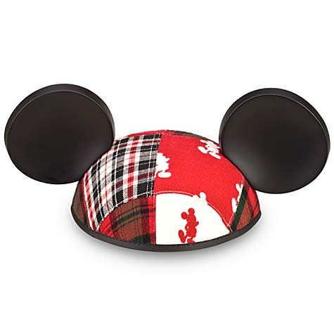 Disney Hat Ears Hat Christmas Mickey Mouse Patchwork