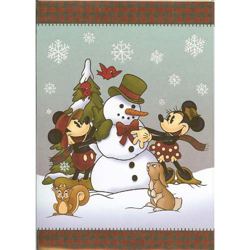 disney christmas cards wilderness mickey and pals