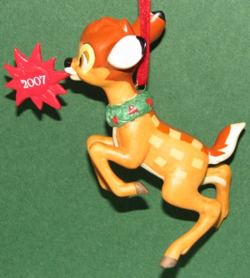 Disney Figurine Ornament - 2007 Bambi Christmas Through the Years