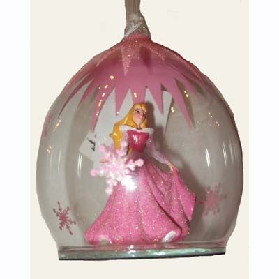 Disney Figurine Ornament - Princess Ball Dome - Aurora