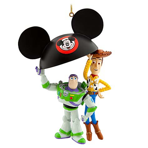 Disney Christmas Ornament - Buzz and Woody Ear Hat