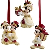 Disney Christmas Ornament Set - Victorian Minnie and Mickey Mouse
