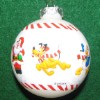 Disney Glass Ball Ornament - Christmas Santa Mickey Candy Cane