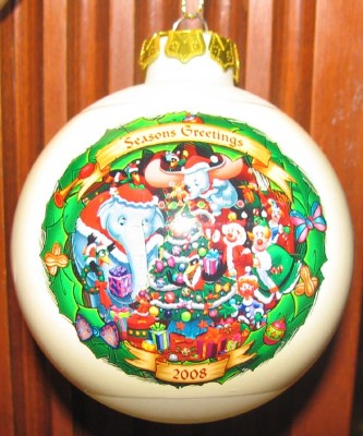 Disney Christmas Through the Years Glass Ball Ornament - Dumbo