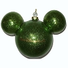 Disney Holiday Ornament - Mickey Ears Large Glitter - Green