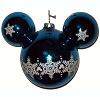 Disney Ornament - Mickey Ears Large - Blue - Snowflake