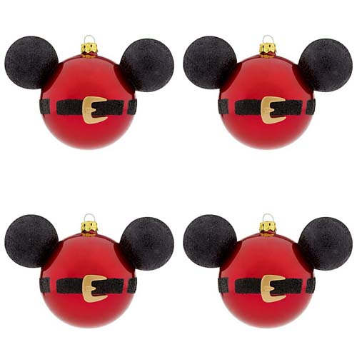 disney christmas ornament set of 4 santa mickey mouse