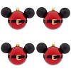 Disney Christmas Ornament Set of 4 - Santa Mickey Mouse