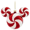 Disney Christmas Holiday Ornament - Mickey Ears Large - Peppermint