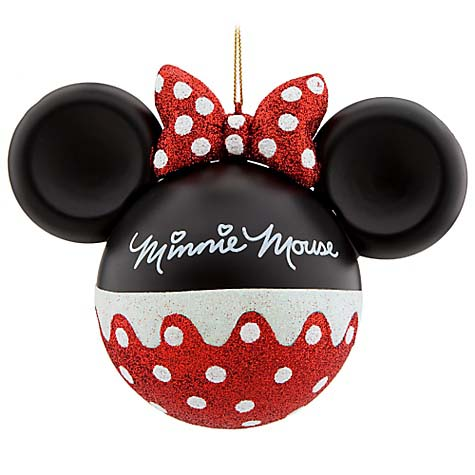 disney christmas ornament mickey ears large minnie mouse