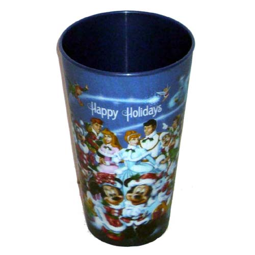 Disney Drinking Cup - Happy Holidays - Mickey and Friends