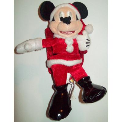 Disney Plush Gift Card Holder Christmas Holiday Santa Mickey Mouse