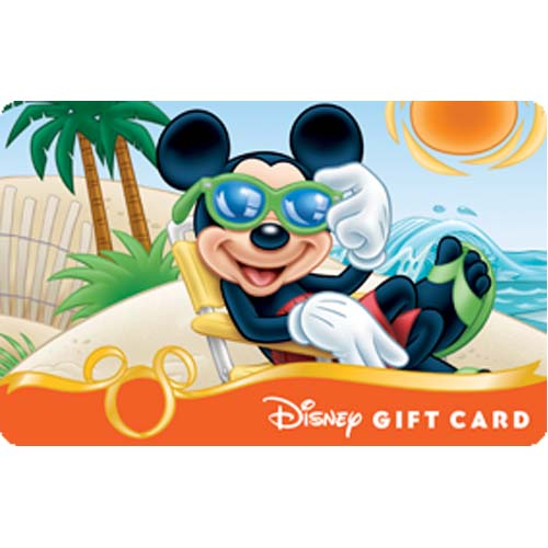 Disney Collectible Gift Card - Beach Series - Catching Some Rays