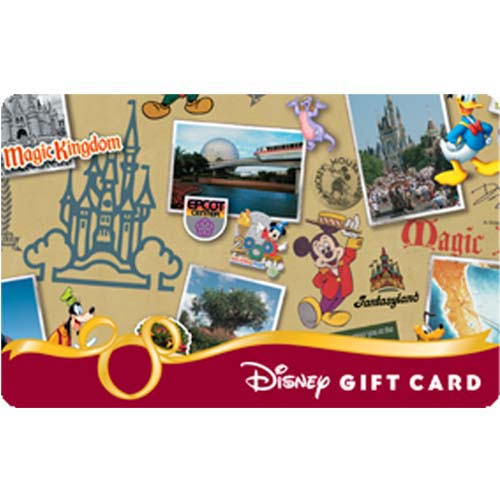 Disney Collectible Gift Card - 40th Anniversary - Collage - Right