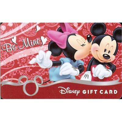 Disney Collectible Gift Card - Be Mine Mickey and Minnie