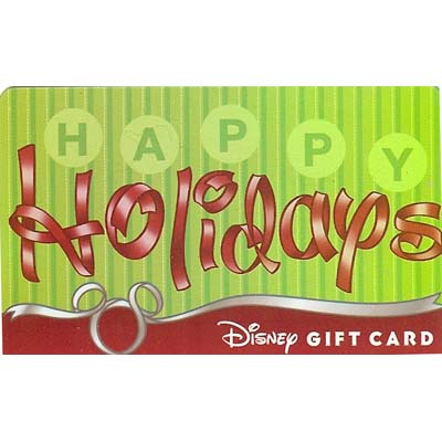Disney Collectible Gift Card - Christmas - Happy Holidays