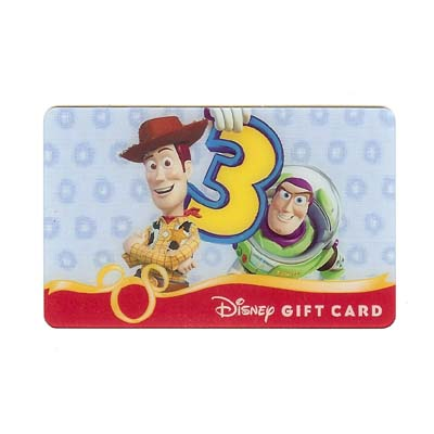 Disney Collectible Gift Card - Toy Story 3 - Woody and Buzz Lightyear