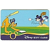 Disney Collectible Gift Card - Sports - Baseball Mickey and Pluto
