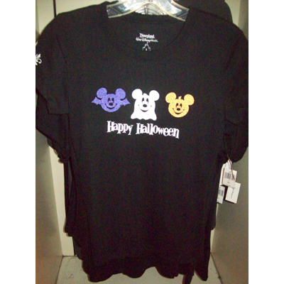 Disney Adult Womens Cut Shirt - Halloween Icons - Mickey Mouse