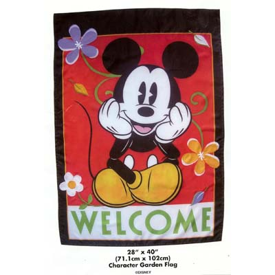 disney flag banner mickey mouse welcome