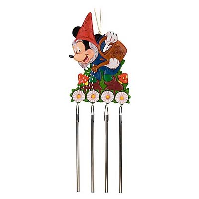 Disney Wind Chimes Mickey Mouse Garden Gnome