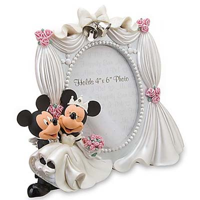 Disney Picture Frame Wedding Mickey And Minnie Mouse 4 X 6