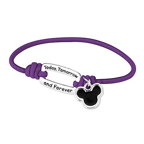 Disney Bracelet - Mickey Icon Today, Tomorrow, Forever - Color Choice