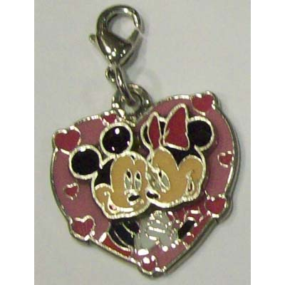 Disney Dangle Charm - MINNIE AND MICKEY MOUSE HEART