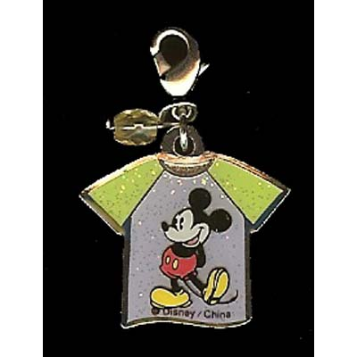 Disney Dangle Charm - MICKEY PURPLE GLITTER SHIRT