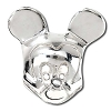 Disney Chamilia Charm - Sterling Silver Mickey Mouse Head