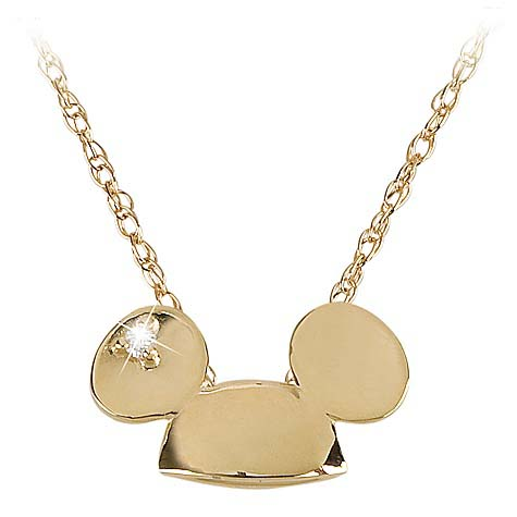 Your Wdw Store Disney Necklace 14 Kt Gold And Diamond