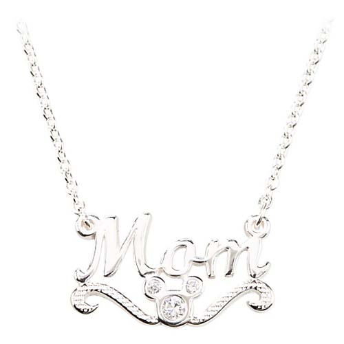 Disney Necklace Sterling Silver Mom Mickey Mouse
