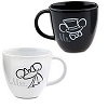 Disney Coffee Cup Set - Wedding Minnie and Mickey Mouse