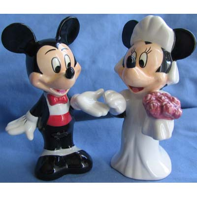 Disney Salt And Pepper Shakers Mickey And Minnie Wedding