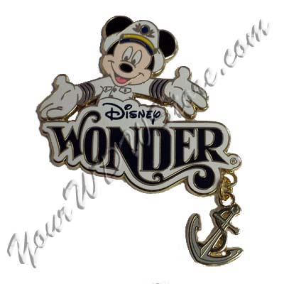 Disney Cruise Line Pin Captain Mickey Mouse Wonder