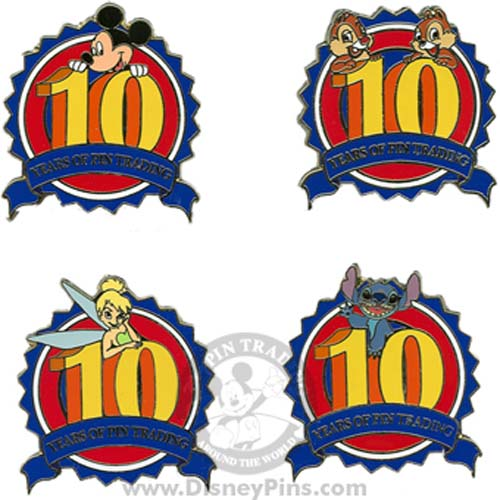 Disney Booster Pin Collection - 10th Anniversary - Mickey & Friends