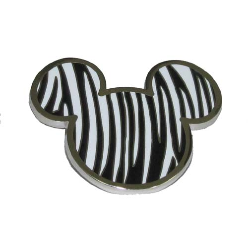 Disney Mickey Icon Pin - Zebra Print